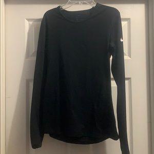 Black Nike Long sleeve tight thermal shirt